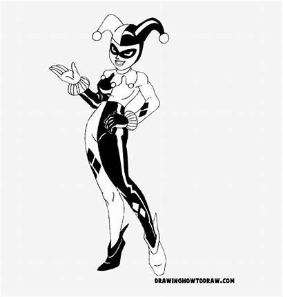 Quinn Harley Coloring Svg Cartoon Dc Drawing