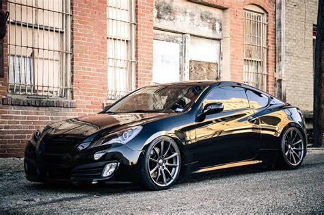 Stanced Hyundai Genesis Coupe Ace Alloy Wheels Carid