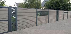 des lames decoratives en aluminium pour ma cloture With modele de jardin avec galets 17 fpee alu