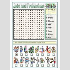 Jobs And Professions Puzzles  English  Vocabulary, Worksheets, Vocabulary Activities
