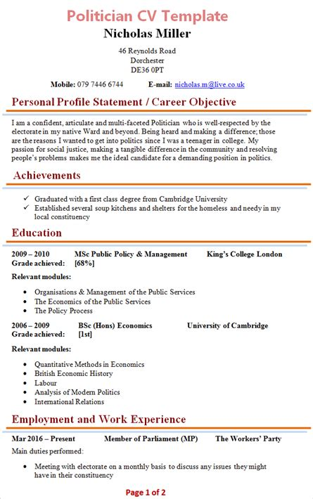 Cv Tips by What Is A Cv Template
