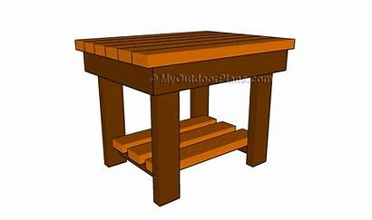 Plans Table End Patio Wood Diy Woodworking
