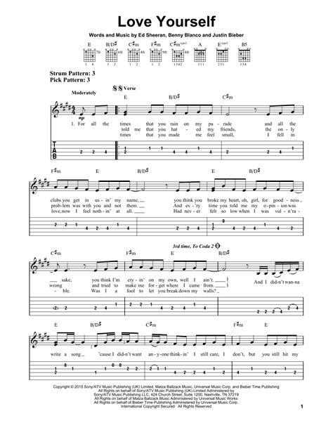 not angka lagu photograph yourself sheet by justin bieber easy guitar tab 163991