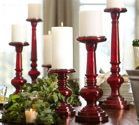 pottery barn candle holders mercury glass pillar holders pottery barn