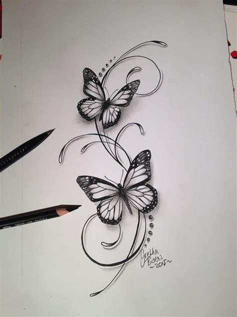 butterflies filigree tattoo design tattoo studio baroque
