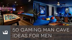 50 Gaming Man Cave Ideas For Men - YouTube