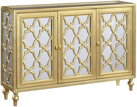 gold credenza garner gold and silver 3 door media credenza from coast to