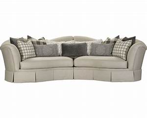 San lorenzo sectional living room furniture for Small sectional sofa thomasville
