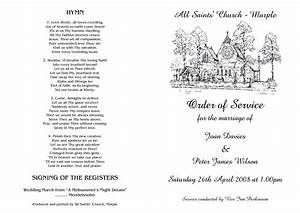 best photos of church wedding order of service template With wedding ceremony order of service