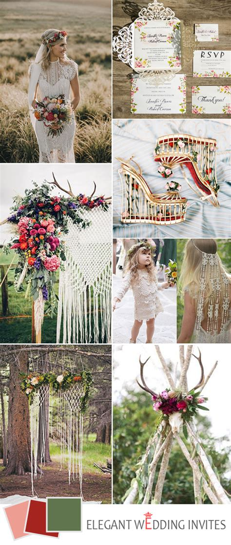 top 5 hot chic boho wedding ideas for 2017 trends
