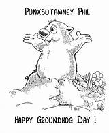 Groundhog Coloring Pages Phil Sheets Punxsutawney Happy Activity Ground Hog February Preschool Activities Groundhogs Clipart Sheet Printable Crafts Holiday Holidays sketch template