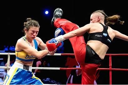 Boxing Kick Budapest Hungary Renata Rakoczi Ukraine