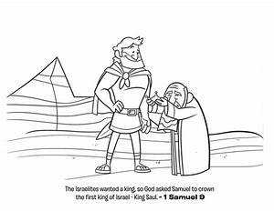 The First King Of Israel Is King Saul Coloring Page Netart
