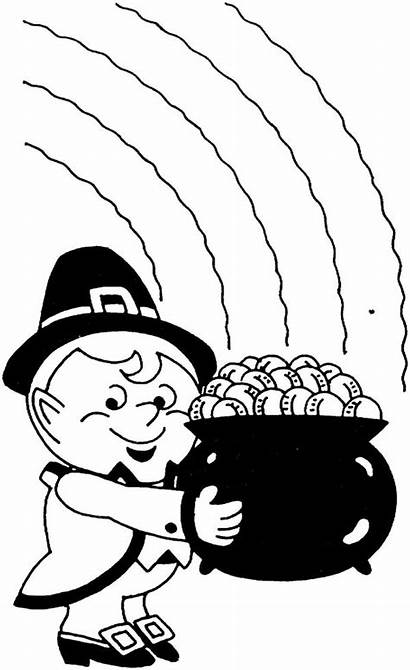 Leprechaun Pot Coloring Gold Holding Pages Sheets