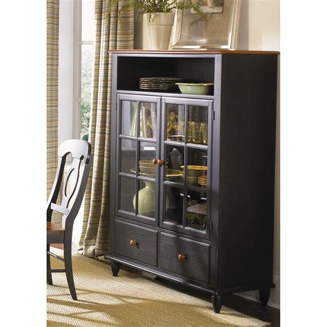 liberty furniture low country black curio cabinet curio