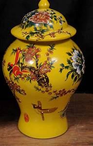 Pair, Chinese, Ming, Porcelain, Floral, Ginger, Jars, Vases, Urns, Pottery
