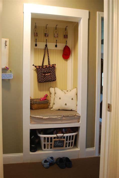 bathroom closet storage ideas no mud room no problem turn a closet into a mini mud room