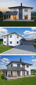 Stadtvilla Mit Garage : stadtvilla modern mit garage loggia zeltdach ~ A.2002-acura-tl-radio.info Haus und Dekorationen