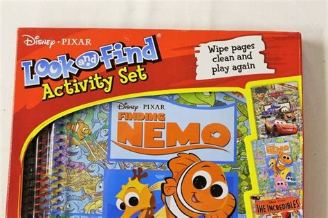 Disney Activity Set Cars Finding Nemo The Incredibles 3