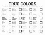 True colors personality activities with teens