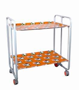 Table Roulante Pliante : table roulante pliante orange et ch ssis gris aluminium vaches ~ Dode.kayakingforconservation.com Idées de Décoration