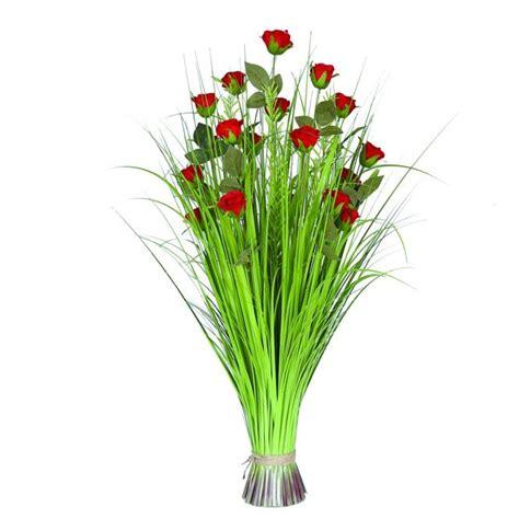 Grass Floral Bundle Rose 100cm - Accessories from Breeze Furniture UK