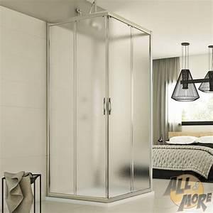 Cabine De Douche Verre Opaque : cabine de douche 3 parois 90x120x90 cm verre opaque ~ Edinachiropracticcenter.com Idées de Décoration