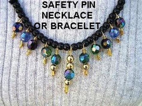 Safety Pin Bracelet Or Necklace, Diy, Jewelry Making, Easy