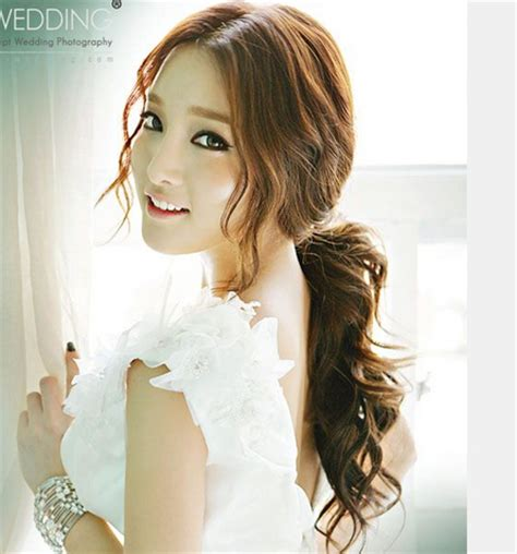 sweet romantic asian hairstyles for young women pretty