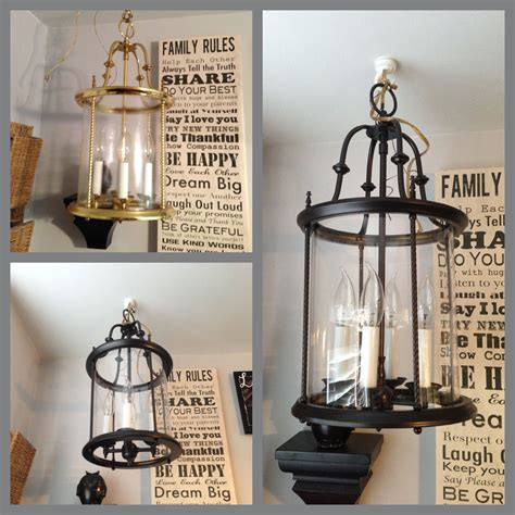 brass light fixture spray painted