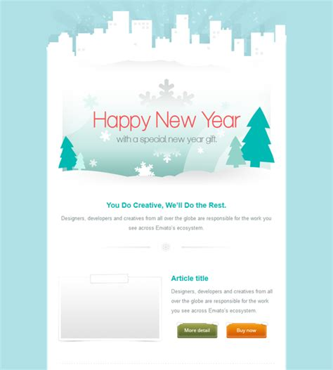 holiday  christmas email template offers