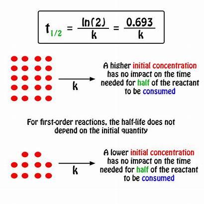 Reaction Half Order Rate Constant Reactant Concentration