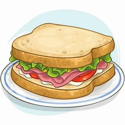 Clipart Sandwich Sandwhich Ham Transparent Cheese Webstockreview