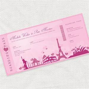 romantic rendezvous boarding pass ticket invitation With free printable boarding pass wedding invitations