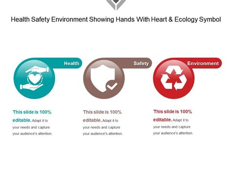 health safety environment showing hands  heart