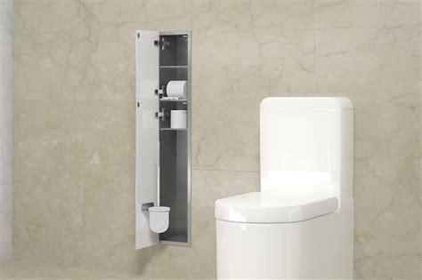 unterputz edelstahl wc schrank 95 cm h 246 he as baddesign