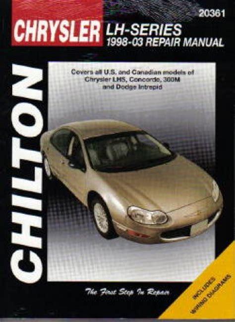 car manuals free online 2001 chrysler 300m security system chilton chrysler lh series 1998 2003 repair manual