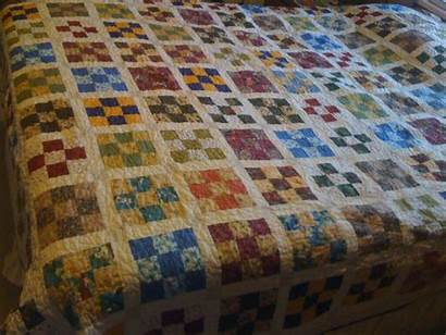 Patch Nine Scrap Quilt Pattern Square Half