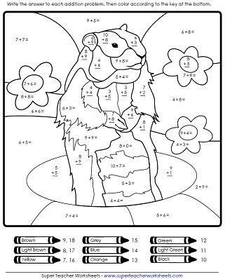 groundhog day math worksheet groundhog day groundhog