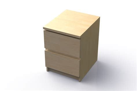 malm nightstand ikea ikea malm nightstand stl step iges solidworks 3d cad model grabcad