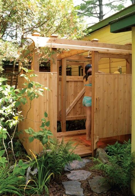 10 diy outdoor shower for washing yourself in the fresh air home and gardening ideas home