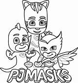 Catboy Coloring Pages Pj Masks Getdrawings sketch template