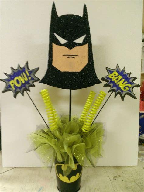 batman centerpiece birthday party baby shower
