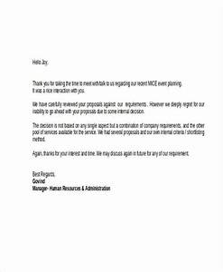 Professional Job Application Template Polite Rejection Letters 9 Free Word Pdf Format