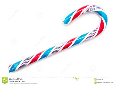 blue  red sweet candy cane royalty  stock images