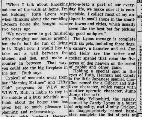 ruth lyons cincinnati moved before enquirer 1950 october history