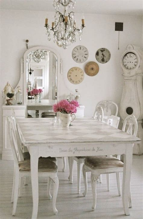 white shabby chic dining room pictures   images