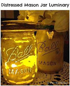 hometalk distressed mason jar vase and distressed mason With what kind of paint to use on kitchen cabinets for mason jars candle holder