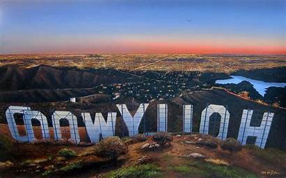 Hollywood Sign Los Angeles Sunset California Wallpapers