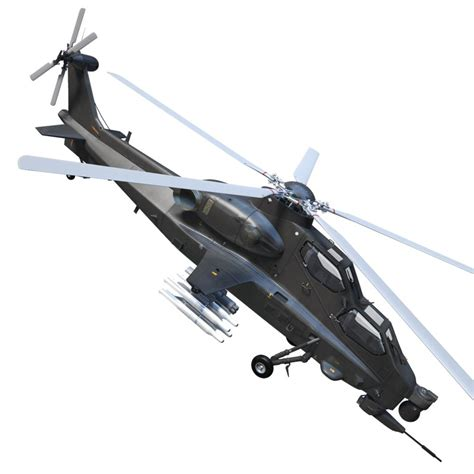 3d Max Caic Wz-10 Attack Helicopter